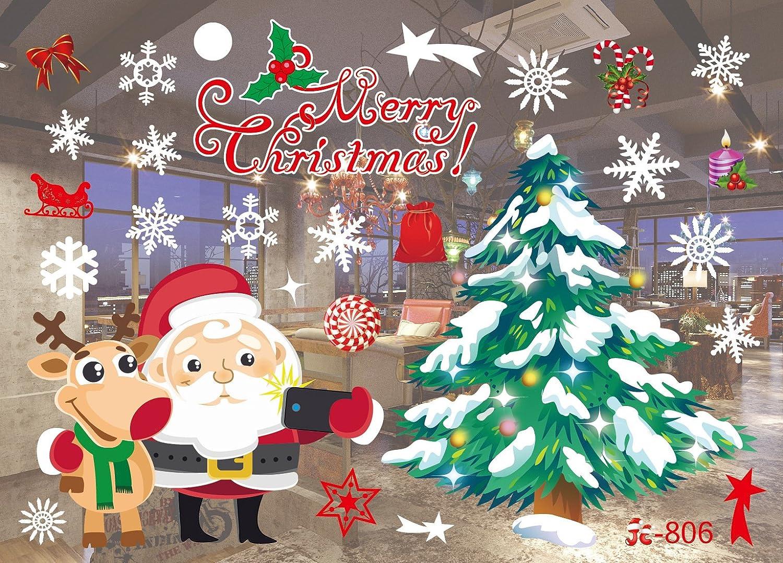 Sinwind Christmas Window Sticker, PVC Window Decoration, Self-Adhesive, Window Sticker, Christmas Decoration Weihnachten