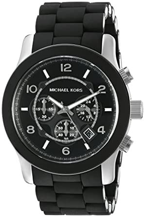 da8a97e3cd46 Image Unavailable. Image not available for. Color  Michael Kors Men s  Runway Black Watch MK8107