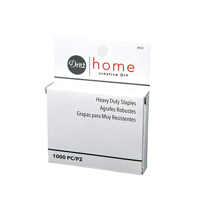 Dritz Home 9053 Heavy Duty Staples, 7/16-Inch (1000-Piece)