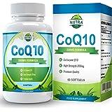 COQ10, Integratore Alimentare, Coenzima Q10 Con Ubichinone, Enzima Con Benefici per La Salute del Cuore, Sollievo dal Dolore, Aumento di Vitalità, Energia & Livelli di Resistenza, Potente Antiossidante, Fabbricato in UK, 60 Capsule