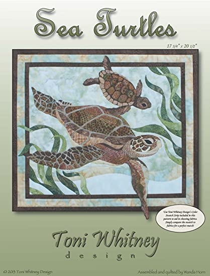 Amazon Toni Whitney Sea Turtles Applique Wallhanging Quilt