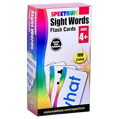 Sight Words Flash Cards: Spectrum: Office Products