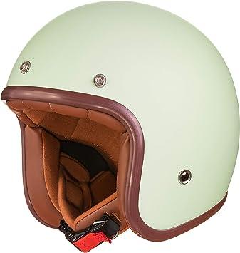 Original Fräulein Irmi Retro Vespa Helm Jet Helm Mit Sonnen Visier Roller Helm Für Frauen Und Herren Im Edlen Vintage Look Qualität Nach Ece Norm Auto