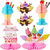 6 Pieces Ice Cream Centerpiece Ice Cream Cart Centerpiece Banana Split Centerpieces Ice Cream Decorations for Ice Cream…