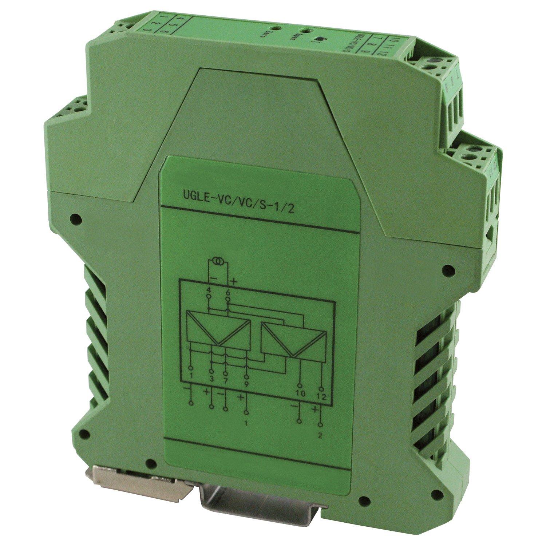 ASI ASI451124 Single Channel Dual Output Analog Signal Isolator Transmitter Splitter, 3-Way Isolation, DIN Rail Mount, Single 4-20 mA Input, Dual 4-20 mA Output