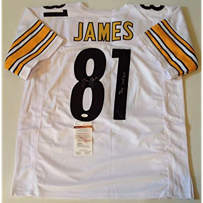 new products 0443f a3b74 Pittsburgh Steelers Jesse James Signed Custom White Jersey ...