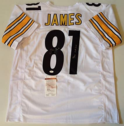 Image Unavailable. Image not available for. Color  Pittsburgh Steelers Jesse  James Signed Custom White Jersey outlaw Coa! 3be683f7b
