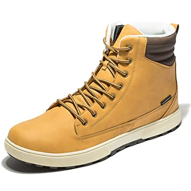 Men's Waterproof Work Boots Ankle Comfortable Shoes