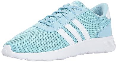 detailed look 9808c 12909 adidas Kids  Lite Racer Sneakers, Ice Blue White Energy Aqua, (
