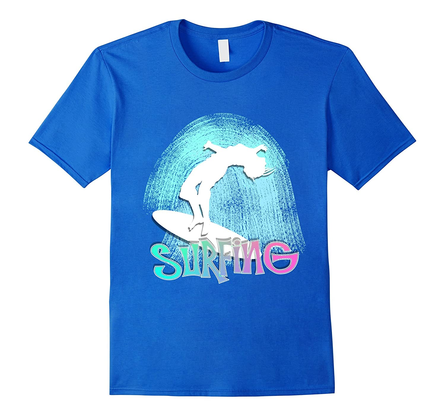 e3945734b25c Surfing The Blue Sea Surfing Swell Graphic T-Shirt-TH - TEEHELEN