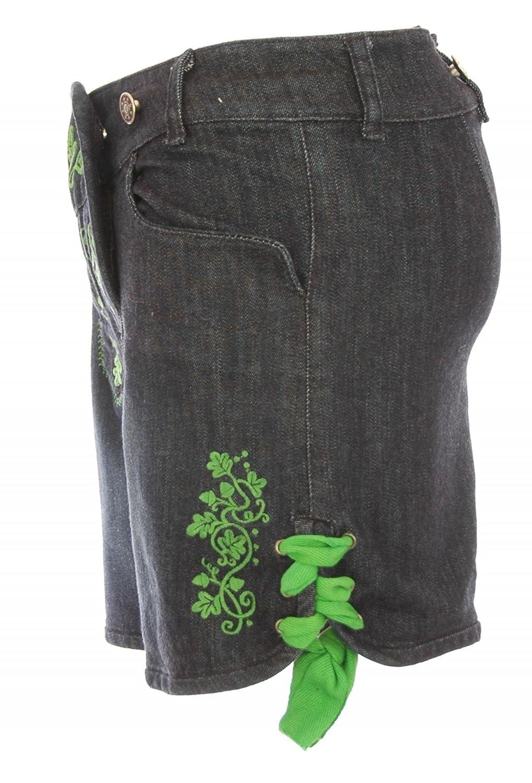 Jeans-Lederhose Stupsi in blau/grün von Almsach