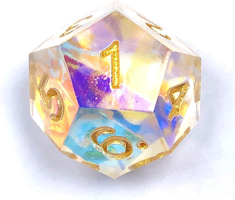 DND Dice Set Golden Dungeons and Dragons Polyhedral (D&D) RPG MTG Games D4 D6 D8 D10 D12 D20