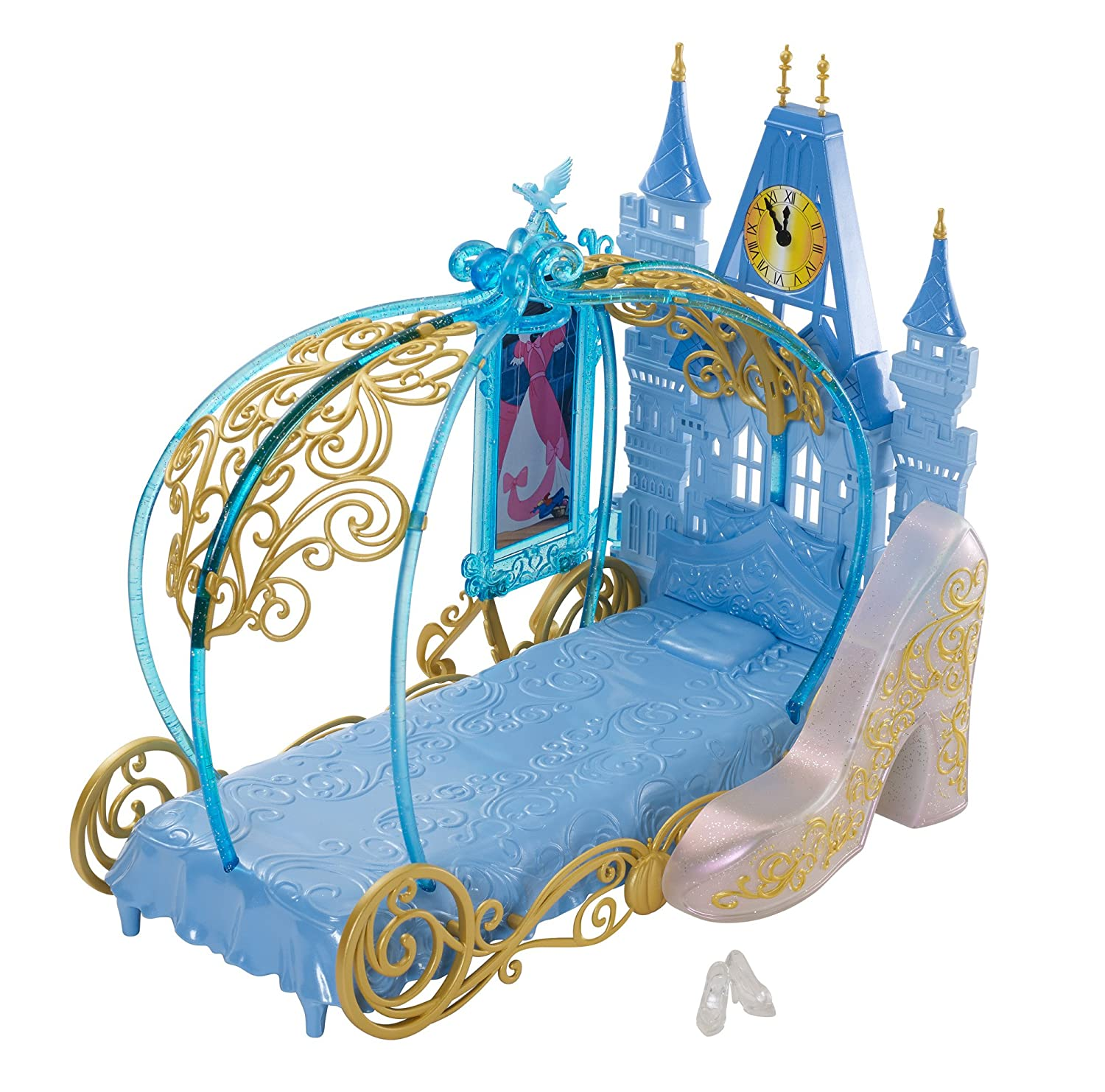 Amazon.com: Disney Princess Cinderellau0027s Dream Bedroom Playset Doll: Toys U0026  Games