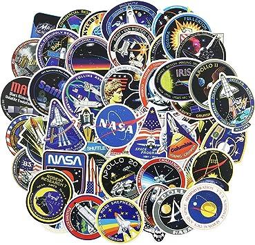 Honch Vinyl Universe NASA Stickers Pack 45 Pcs Space Explorer Stickers Astronaut Decals for Laptop Ipad Car Luggage Water Bottle Helmet