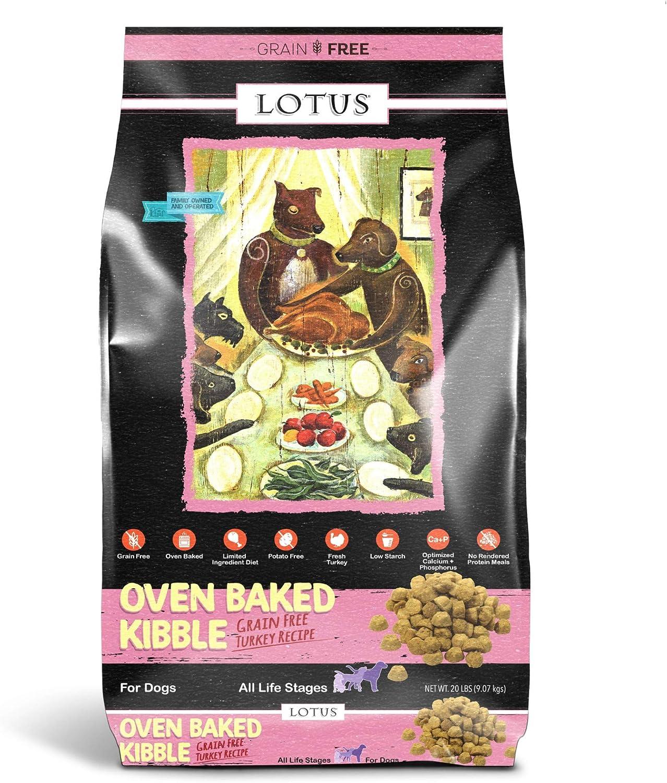 Lotus Oven-Baked Kibble Grain Free Turkey Formula Dog Food 20 Lbs