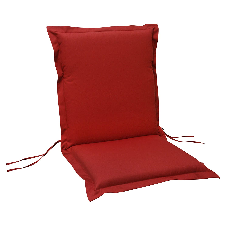 indoba® IND-70431-AUNL-6 - Serie Premium - Gartenstuhl Auflage - Niedriglehner, extra dick, Rot - 6 Stück