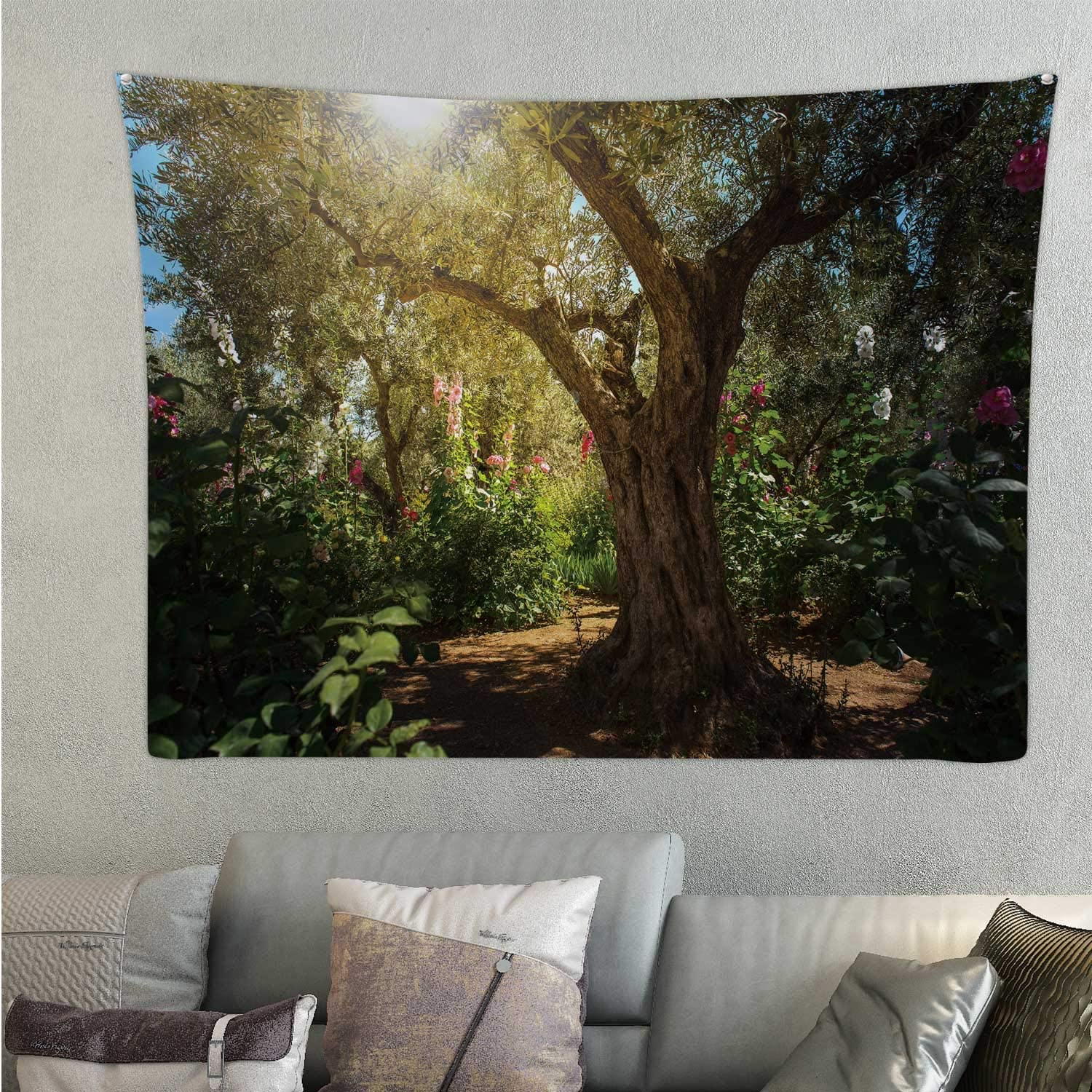 Hitecera ,Tapestry's Wall Hanging Sunray in The Gethsemane Garden for Room 78.7'' x 59.1''(WxH)