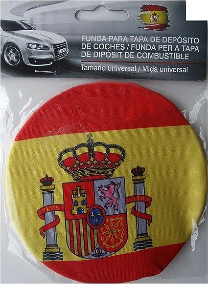 Span Funda de protección para Deposito de Gasolina de Coche con la Imagen de la Bandera de España.: Amazon.es: Coche y moto