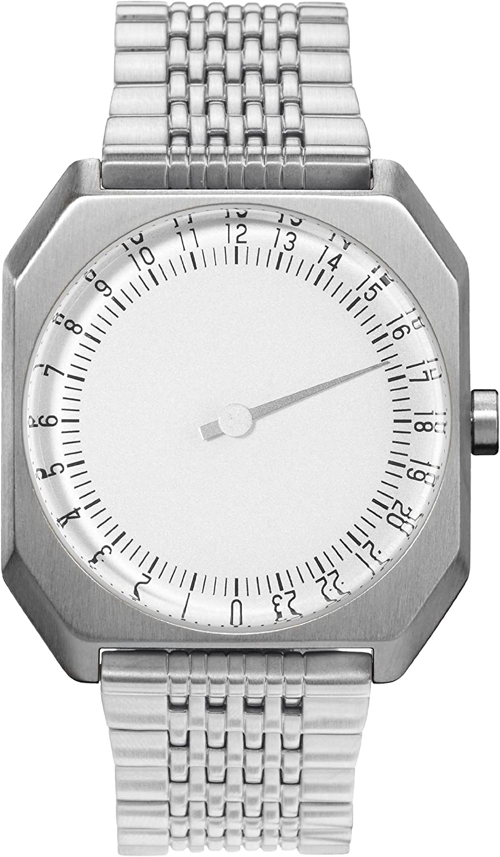 slow Jo 01 – Swiss Made one-hand 24 hour watch – Silver steel