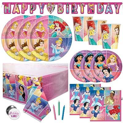 Disney Princess Party Tableware Birthday Supplies Girls Plates Decorations