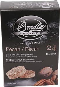 Bradley Smokers 106697 Pecan Bisquettes Smoker, 24-Pack, BTPC24