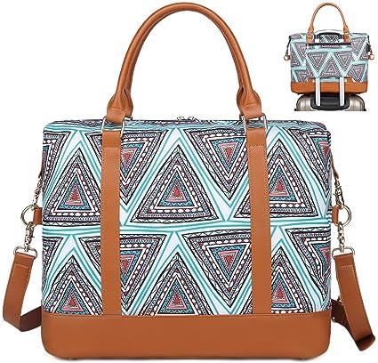Bolso de Viaje Mujer de Mano Impermeable Bolso de Compras Grande Bolsa de Deporte Duffle Bag con Puerto USB para Weekender Señoras Compras, Viajes, ...