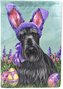 Caroline's Treasures 11 x 15 1/2 in. Polyester Scottie Easter Bunny Garden Flag 2-Sided 2-Ply