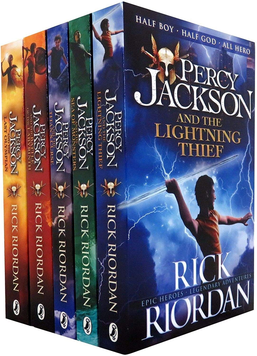 Percy Jackson X 5 Book Set Series Collection 5 Book Set: Rick Riordan: Amazon.es: Hogar