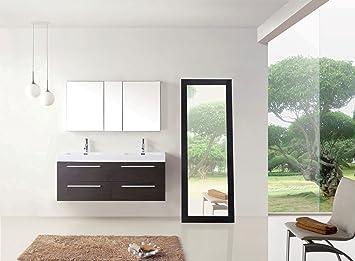 54 inch double sink vanity. Virtu USA JD 50754 WG 54 Inch Finley Double Sink Bathroom Vanity