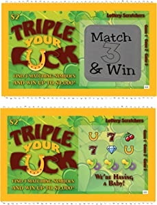 Pregnancy Announcement Scratch Off Lottery Tickets, New Baby Game, 5 Cards My Scratch Offs