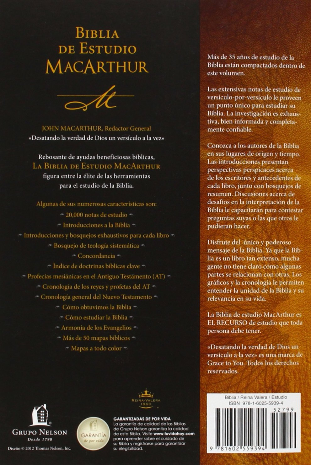 Biblia de estudio MacArthur (Spanish Edition): John F. MacArthur:  9781602559394: Amazon.com: Books