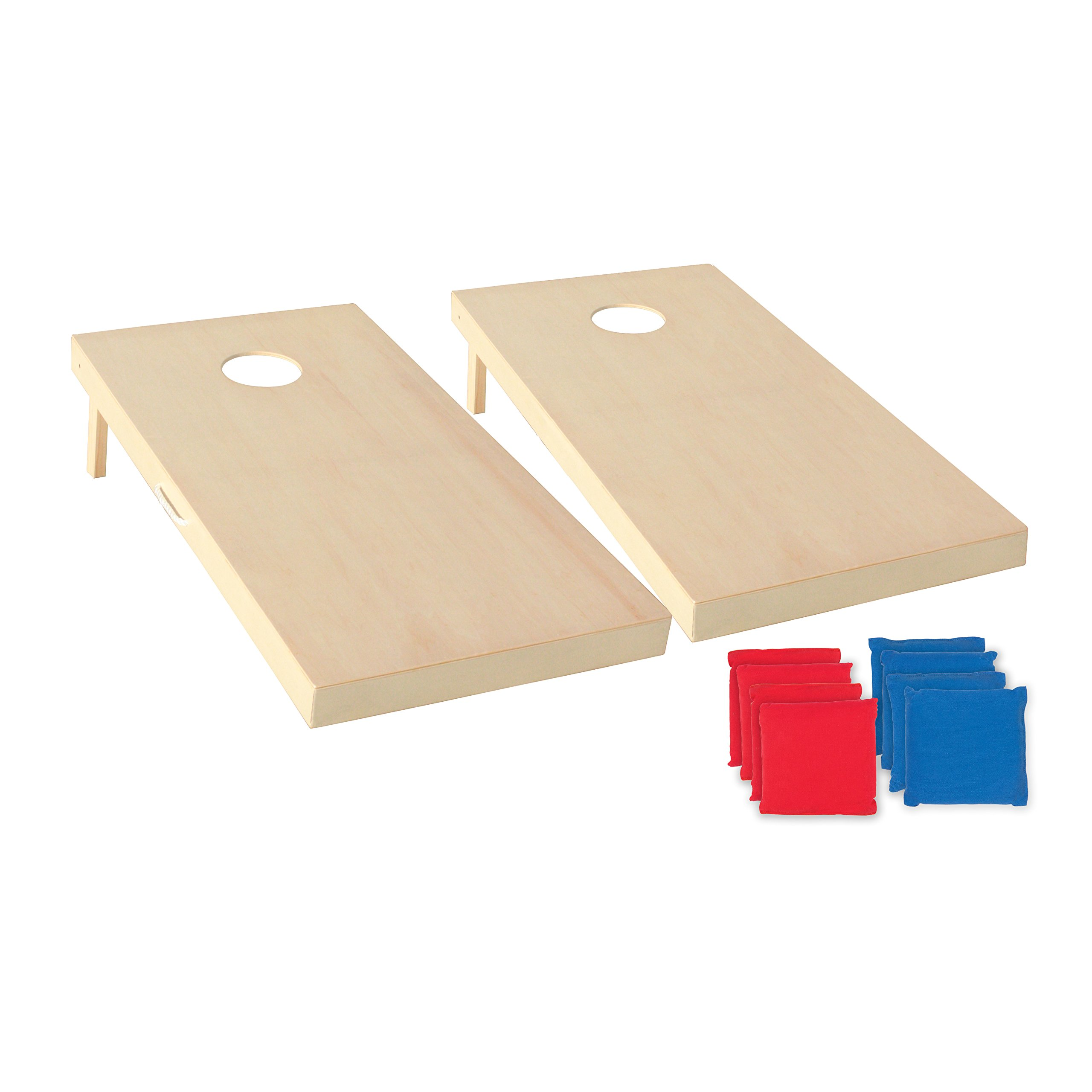 Triumph 2' x 4' ''Woodie'' Tournament Cornhole All-Wood Bean Bag Toss Set Includes 8 Bean Bags