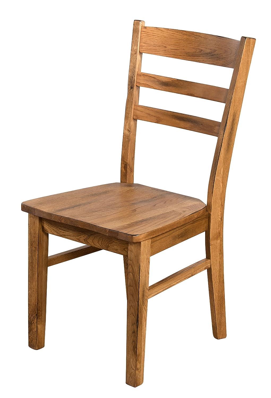 Amazon.com: SUNNY diseños 1616ro Ladderback silla, acabado ...