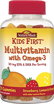 70-Count Nature Made Kids First Multivitamin with Omega-3 Gummies