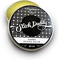 Beard Balm with Jojoba Oil, Beeswax, Cocoa Butter, Shea Butter & Vitamin E - Purpose-Driven, Premium Quality, All Natural, Best Leave-in Beard Conditioner for Men to Promote Facial Hair Growth, Strength & Style by Slick Daddy (Unscented)