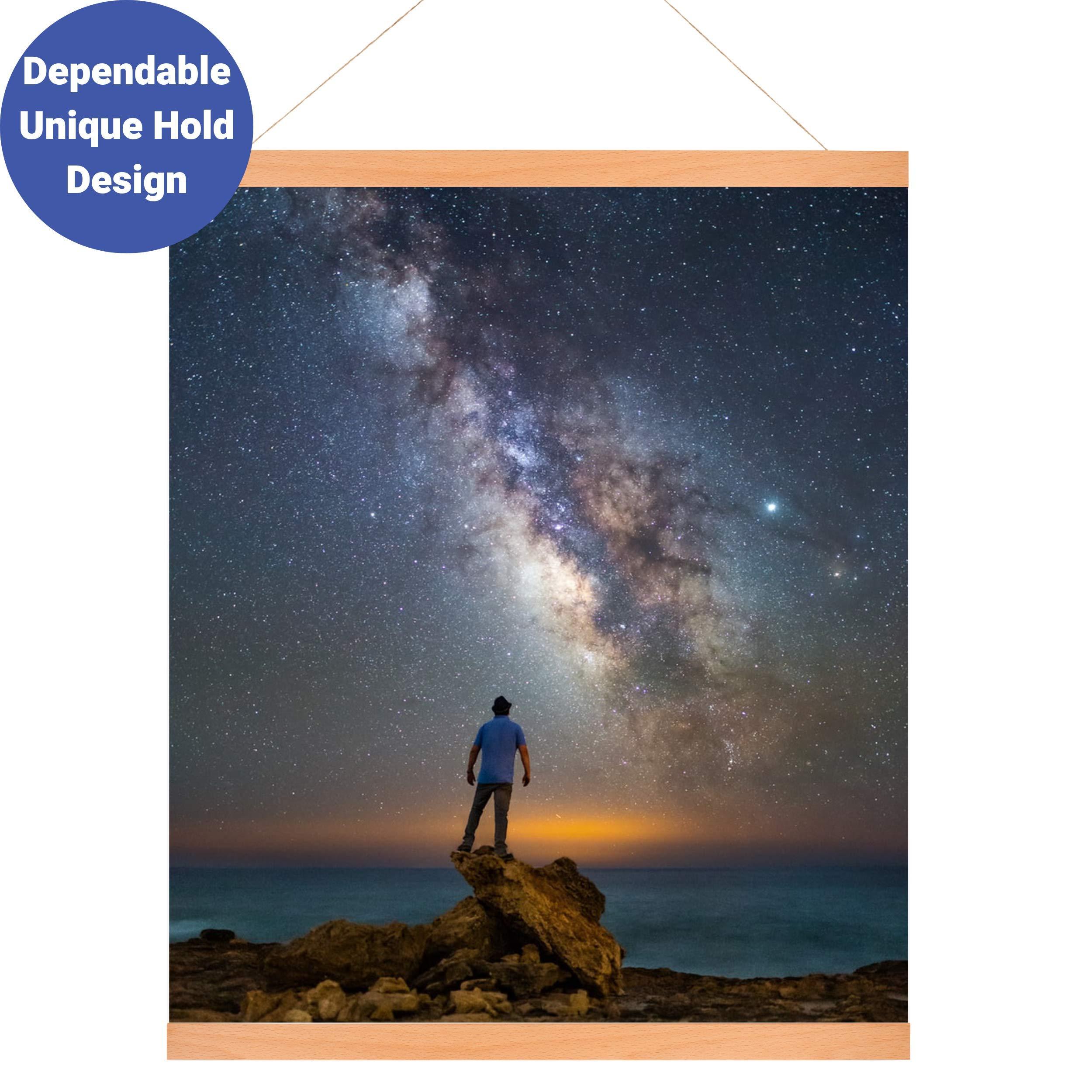 Swoodz Magnetic Poster Frame|Poster Frame for 24x36 18x24 24 x 26 Frame | Magnetic Poster Hanger| Heavy Duty Magnetic Frame by Swoodz
