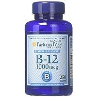 Puritans Pride Vitamin B-12 1000 Mcg Timed Release Caplets, 250 Count