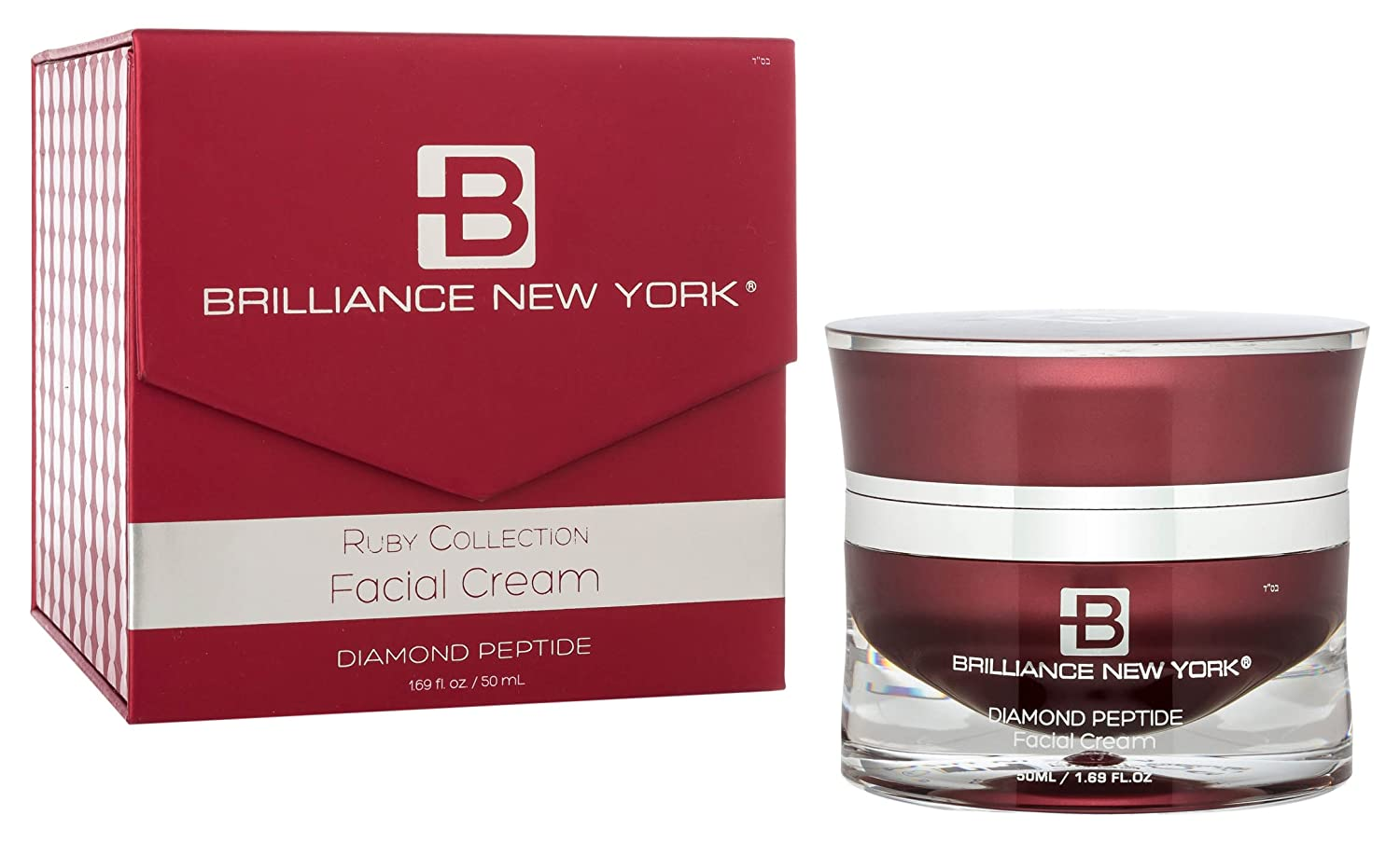 Brilliance New York - Ruby Collection Face Cream, Infused with Rubies and Reishi Mushroom Extract, 1.69 fl oz (50 ml) 100-FC