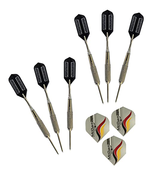 8 opinioni per McDart- Set 6 freccette per tirassegno in acciaio + alette di ricambio