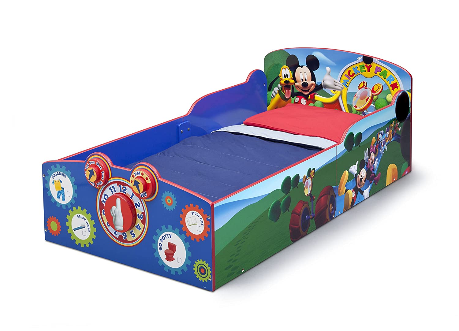 amazoncom delta children interactive wood toddler bed disney mickey mouse baby