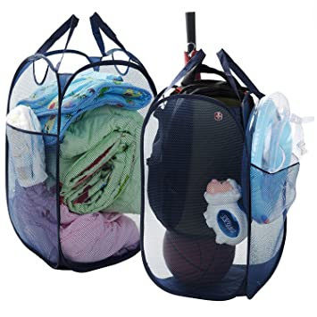 Pop-Up Wäschesammler, groß Größe faltbar Badezimmer Kleidung Korb ...