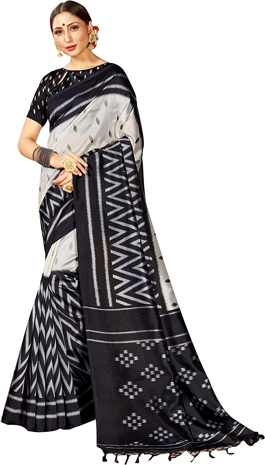 Elina fashion Saree for Women Cotton Art Silk Sarees for Indian Wedding Gift, Sari and Unstitched Blouse Piece
