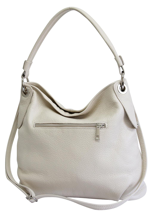 AMBRA Moda Sac à main femme Sac à bandoulière sac à bandoulière sac fourre-tout cuir véritable GL012 L