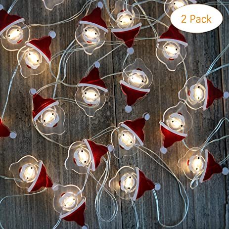 Christmas String Lights Battery Operated Fairy String Lights With Timer  Flexible Copper Wire 20 LED X