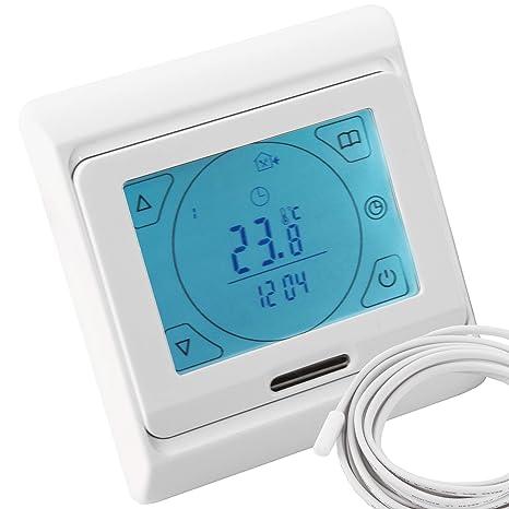 Vilstein© - Termostato de temperatura ambiental digital para calefacción eléctrica por