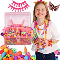 Pop Beads Jewellery Kits for Girls, Colourful Toy Jewellery Making, Arts & Crafts for Kids, age 4-8, Necklace, Ring…