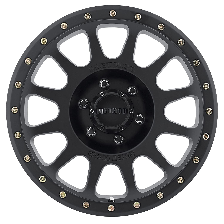-12 mm offset 18x9//8x170mm Method Race Wheels NV Matte Black Wheel with Zinc Plated Accent Bolts