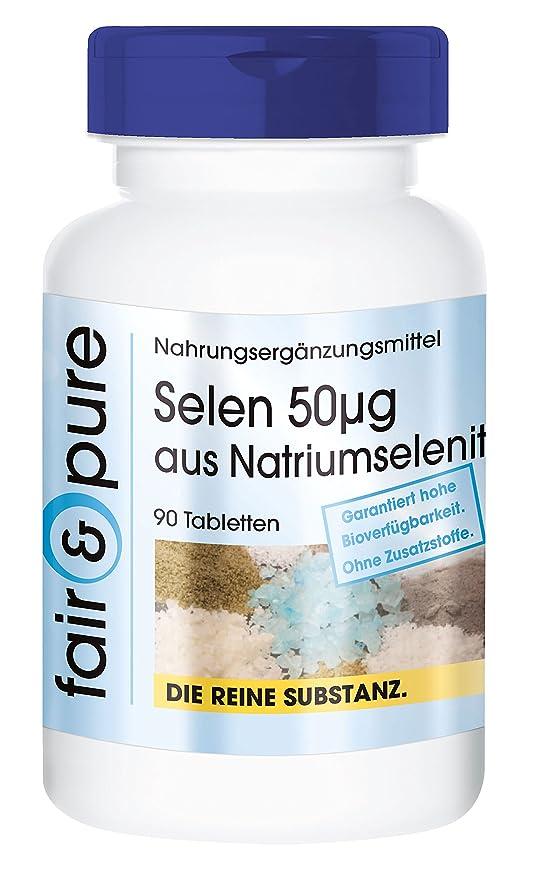 90 comprimidos de selenio (50mcg) - Procedente del selenito de sodio - Sustancia pura y sin aditivos: Amazon.es: Salud y cuidado personal