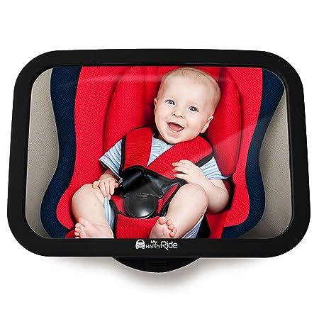 Rücksitzspiegel fürs Baby, Bruchsicherer Auto-Rückspiegel für Babyschale, Autositz-Spiegel ohne Einzelteile, für Kinder in Ki