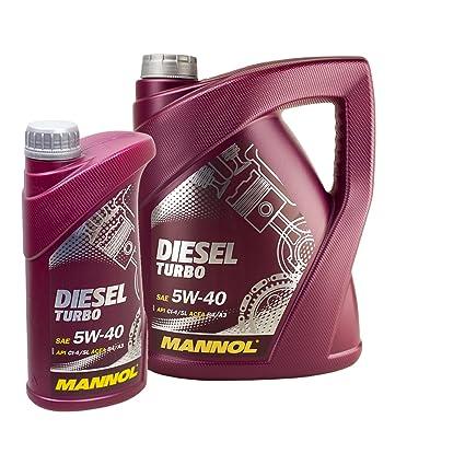ölwechsel Juego 6L Mannol 5 W de 40 + Muñeco de aceite ...